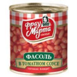 """Фасоль в томатном соусе """"Фрау Марта"""", 310 г (15*1)"""