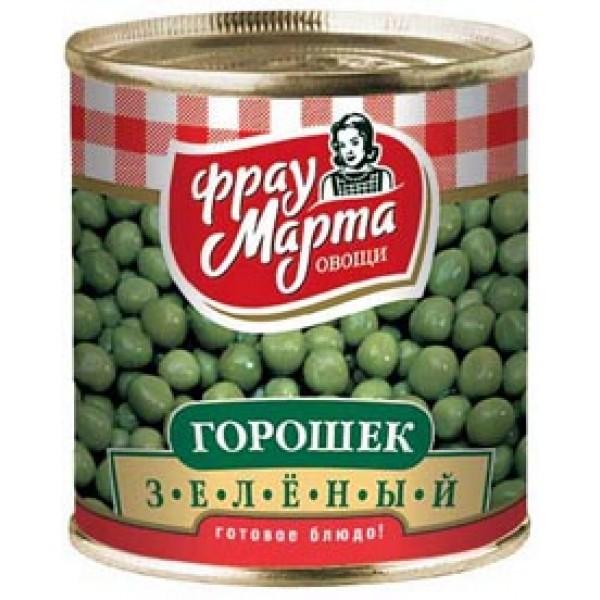 """Горошек зеленый """"Фрау Марта"""", ГОСТ, 310 г (15*1)"""
