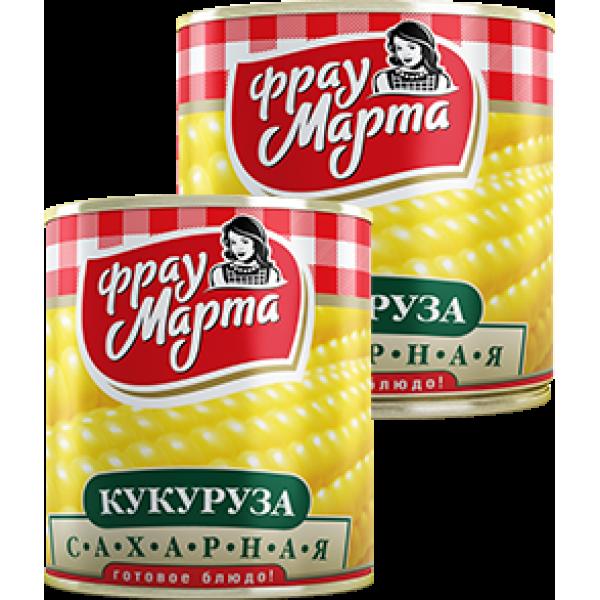 """Кукуруза сахарная """"Фрау Марта"""", 420 г (15*1)"""