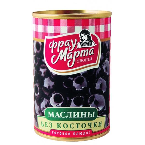 """Маслины без косточки """"Фрау Марта"""", 300 г (12*1)"""