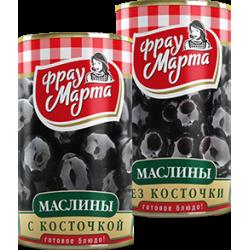 """Маслины с косточкой """"Фрау Марта"""", 300 г (12*1)"""