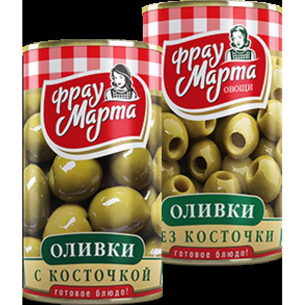 """Оливки с косточкой """"Фрау Марта"""", 300 г (12*1)"""