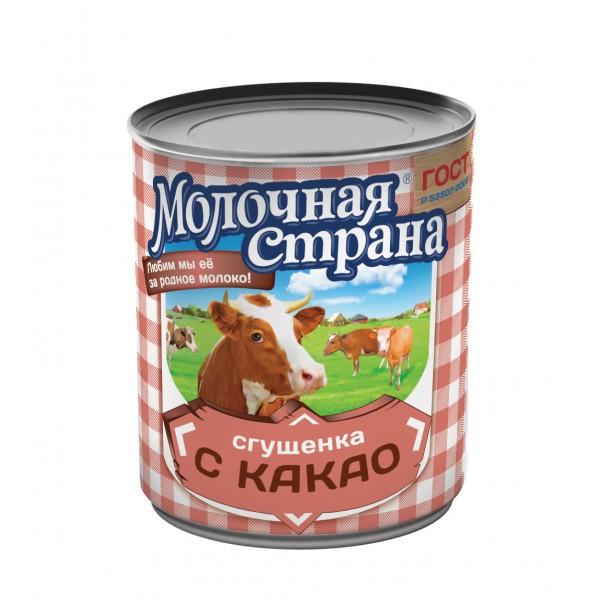 "Сгущенка с какао ""Молочная страна"", 380 г (15*1)"