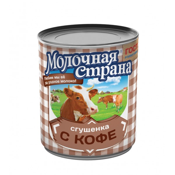 "Сгущенка с кофе ""Молочная страна"", 380 г (15*1)"