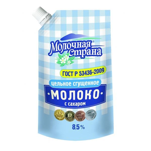 """Молоко цельное сгущенное с сахаром """"Молочная страна"""", ГОСТ, 270 г (12*1)"""