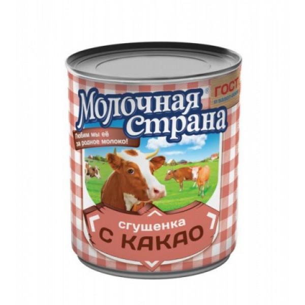 "Сгущенка с какао ""Молочная страна"" (380 гр * 15 шт) оптом"
