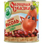 """Фасоль красная в собственном соку """"Овощная сказка"""", 310 г (15*1)"""