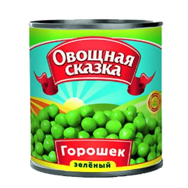 """Зеленый горошек консервированный """"Овощная сказка"""" (400 гр  * 15 шт)"""